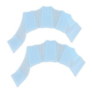 2pcs / set Dedo Silicone Natação Mão aletas Swim Sapo palma da mão Webbed Gloves Paddle Swim Luva Equipamento