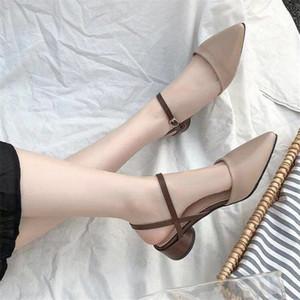 Zanpace платформа Женские сандалии Весна пряжка ремень туфли на низком каблуке для женщин лодыжки ремень каблуки летняя мода туфли на платформе Y200405