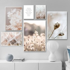 Pianta del fiore della tela di canapa pittura scandinava poster Nordic floreale Stampa Botanica moderna della parete della decorazione di arte Immagine Living Room Decor
