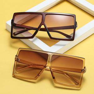 Square Large Frame Retro Occhiali da sole Square Frame UV400 Lens Occhiali da sole vintage Uk Unisex Trend Occhiali da vista Sconto online