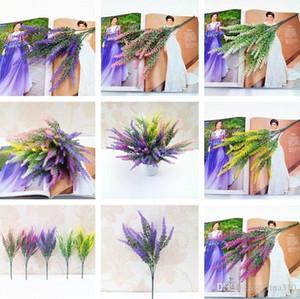 5 أنماط artificia ما الديكور الزهور بروفانس لافندر رومانسية وهمية زهور الزفاف الحرير الرئيسية صالح محاكاة حديقة باقة I260