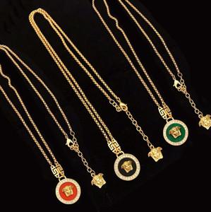 Лабиринт бриллиантовое ожерелье женский Европейский и американский темперамент женский чистый красный ретро латунное ожерелье