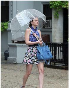 2019-Hot Selling Fashion Apollo Transparenter Regenschirm Clear Bubble Umbrella Gossip Girl Mushroom Umbrella Freies Verschiffen