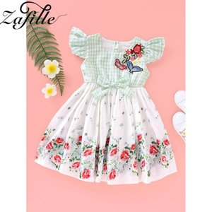 ZAFILE Summer Floral Flare Sleeve Dress Baby Girl Clothes Kids Toddler Girls Clothing Princess Dress Baby Kids Toddler Sundress