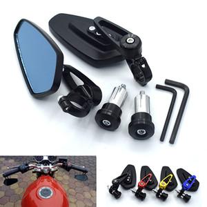 "Universal Motorcycle 7 8 ""22mm Handlebar Side Side Mirror For Yamaha YZF600R YZF750 YZF1000 R XJR1300 FJR1300 XTZ1200"