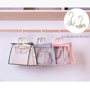 Bolsa portátil de la bolsa para polvo dormitorio Armario de piel sellada a prueba de humedad cubierta protectora transparente del bolso del organizador del almacenaje
