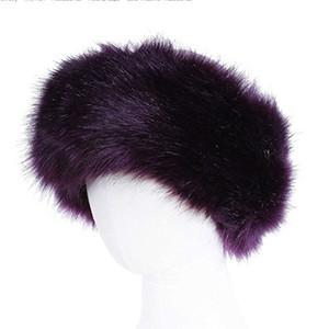 10 colori delle donne in pelliccia sintetica fascia di lusso regolabile caldo inverno nero Natura Ragazze Earwarmer paraorecchie