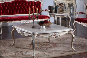 Итальянская мебель для гостиной из массива дерева-французский классический журнальный столик-итальянский квадратный журнальный столик