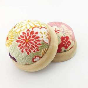 1pc Floral Cross Stitch Needle Sewing Pin Cushion Button Home Tailors Safety Craft DIY Stitch Sewing Needlework Accessories