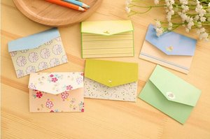 1Pcs Fresh Countryside Style Mini Novelty Envelope Message Card Letter Stationary Storage Paper Gift H0083