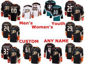 Anaheim Ducks Hockey bianco maglie Devin Shore Jersey Jakob Silfverberg Daniel Sprong Troy Terry Cam Fowler nero cucito pullover su ordinazione