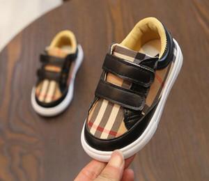 Çocuklar Designer Bebek Boy Çizgili Sneakers Bebek Bebek Kız İlk Walker Moda Marka kaymaz Açık Ayakkabı