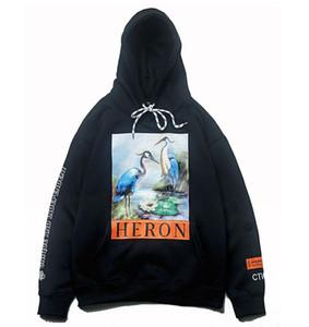 19FW 유럽과 미국 힙합 스트리트 패션 카드 H P 크레인과 벨벳 후드 스웨터