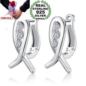 OMHXZJ wholesale Fashion Heart & Arrow Paw setting A smile of the fish zircon 925 sterling silver Stud earrings YS115