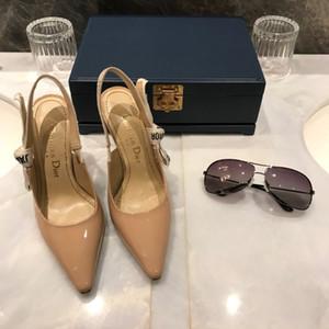yeni Avrupa lüks tarzı klasik yüksek topuklu sandaletler bayan ayakkabı Paris süpermodel podyum toka kauçuk dış taban