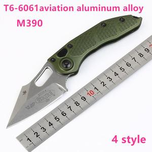 Neue High-End-Microtech Stich Ein taktisches faltendes Messer M390 Stone-Wash-Blatt-T6061 Aluminum Handle EDC Taschenmesser Survival-faltendes Messer