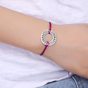 Gymnastique Sports Charms Bracelets Baseball Softball football clé réglable Bijoux main Femmes Garçons fille meilleur ami cadeau