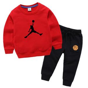 10 ألوان ماركة مصمم 100٪٪ ملابس الاطفال بنين بنات مجموعة ملابس رياضية ملابس رياضية طويلة الأكمام البلوز + بانت مجموعة للأطفال