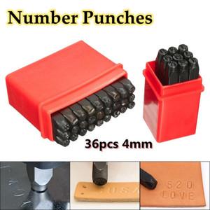 """36pcs 4mm 5/32 """"en acier Lettre Numéro Timbre Punch Set Timbre En Métal Code Zip Sécurisé pour Make Bag Fitting"""
