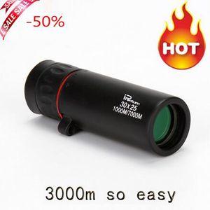 heißer Verkauf HD 30x25 Monocular Telescope Ferngläser Zooming Focus Green Film Binoculo optische Jagd Qualitäts-Tourismus-Bereich