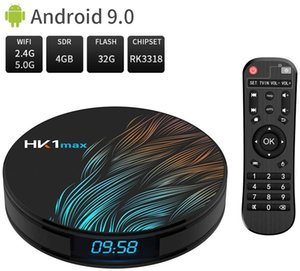 Android Box 9.0 HK1 MAX 4GB 32GB Quad-Core 64bit 2.4Ghz 5.0Ghz WiFi BT 4.0 HDMI 4K VP9 3D Smart TV Box