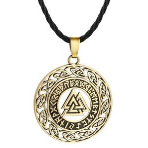 Huilin Takı slav Kolye Kolye hollow Üçgen yuvarlak kolye retro takı gümüş bronz Viking kolye