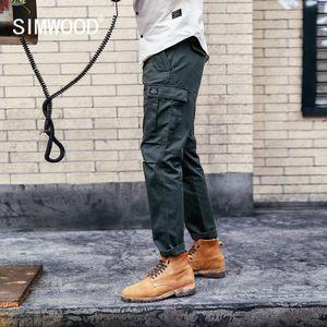 SIMWOOD New 2019 Casual Pants Men Fashion track Cargo Pants Ankle-Length military autumn Trousers Men pantalon hombre 180614 CJ191212