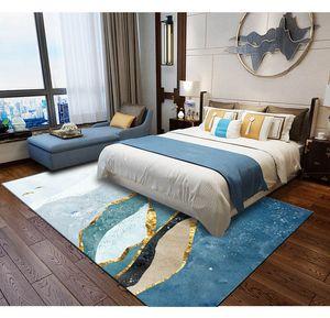 Современные мягкие ковры для гостиной этажа Спальни ковриков Большого Коврик Главных ковровой Решотка украшение 005