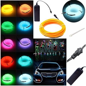 1.5M Flexible Neon Light Glow EL Wire Rope tape Cable Strip Tube LED Neon Lights Shoes Clothing Car Dance Party waterproof led