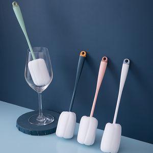 Bottle brush Clean Feeding bottle Brush Sponge Long Handle 90 pcs pack PP White Blue Green Pink Cup Brush