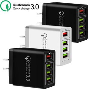 30W 4 Порты USB QC3.0 Быстрый зарядное устройство QC 3,0 Быстрая зарядка зарядное устройство питания Adpater для Samsung Htc сони
