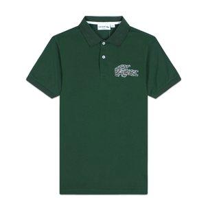 Дизайнерские Мужские рубашки поло летний бренд Поло мужские роскошные футболки Бизнес Офис Поло рубашка с коротким рукавом Крокодил топы 2020757K