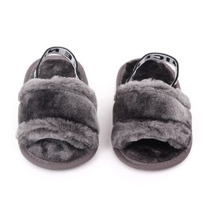 1pairs 2pcs Hot sale Baby Home Slippers Autumn Baby Infant Princess Sandals Crib Shoes 0-18M Newborn Baby Girl Slippers With Fur Soft Solee
