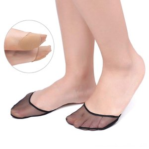 1Pair Thick Flesh Color Invisible Foot Toe Socks Women's Underwear Underwear Mat Half Pad Transparent Breathable Gauze Sponge Pad Insole Soc