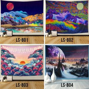 Envío de la gota personalizada nórdica INS psicodélico fondo de tela de la decoración de la pared colgante mandala poliéster Buda Horus Yoga Mural tapiz