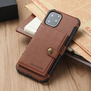 Luxe Designer Phone Cases pour iPhone 11 Pro Max 6 7 8 plus XS MAX cuir PU XR avec des fentes de cartes pour Samsung S8 S9 S10 ainsi que la note 8 9