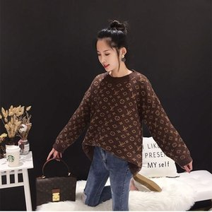 1120 2019 otoño suéter de lujo de manga larga con cuello en V Cardigan Marca mismo estilo de baile Gris Negro Moda para mujer ropa