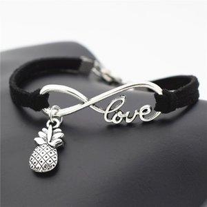 2019 Nouveautés Mode Coréenne Chaude Simple Infinity Love Pendentif Ananas Amitié Bracelets Bracelets Pour Femmes Hommes Bijoux Hawaii Eté
