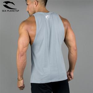 Alphalete Nouveau Gymnases Bodybuilding Haut Sans Manches Chemises Tees Muscle Hommes Fitness Débardeurs Mens Clothing Q190522