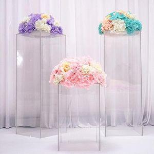 Престижная ясно ваза акрил подставки цветок Букет стоит свадьба Centerpieces дисплей окна корабля придел дорога ведет свадебные цветы задники