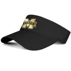 1 Estado de Mississippi Bulldogs de fútbol Logotipo dorado negro hombre y mujer tenis gorra camión conductor diseño fresco gorra de golf deportes en forma personalizar