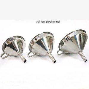 Canning Mutfak Araçları için geniş Ayrılabilir Filtre Ağız Huni ile Paslanmaz Çelik Huni Mutfak Yağ Sıvı Huniler Metal Huni