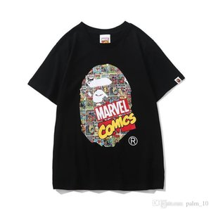New Ape Tshirts Cotton High Quality Breathable A Bathing Cartoon Printed T-shirt Aape Men's Casual Short-sleeved Comfortable Casual Clo