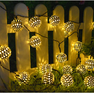 Solar String Lights 10 Morocco Balls LED String Fairy Light Decorative Holiday Christmas Lighting Outdoor Wedding Decoration