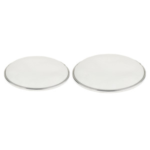 2Pcs White Bass Drum Head Double Layer Silent Mute Drum Skin 10'' And 12''