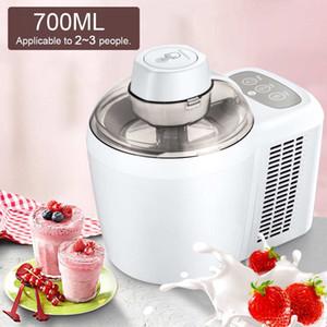 700мл Бытовая полноавтоматическая Soft Hard Ice Cream Maker Machine Intelligent шербет Фруктовый йогурт Льдогенератор Десерт Maker