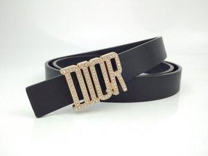 cinturón de deportes de ocio de los hombres, personalidad de la moda, los hombres de lujo de la marca 2.4cm 1Ddior cinturón 1Dcuero