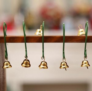 50pcs lot 10mm Gold Metal Trumpet Bells for Christmas Tree Hanging Ornaments Pendants Decor Wind Chime Accessories