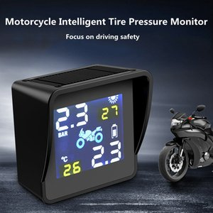 Motorcycle Tire Pressure Monitoring Locomotive Tire Pressure Monitor Electric Motorcycle External Wireless High Precision Solar and Charging