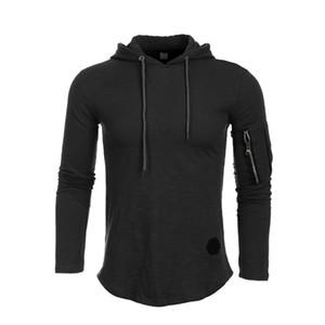 Sweats à capuche Homme Automne 2019 Mode Survêtement Sweat-shirt col hiver chaud hommes Cap Manches longues Pull capuche Sports Sweatshirts